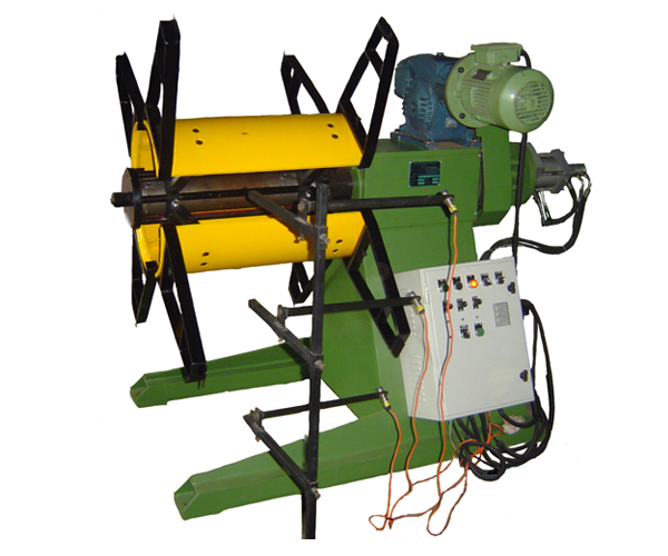 Motorized Decoiler-with-hydraulic-expandable-jaws