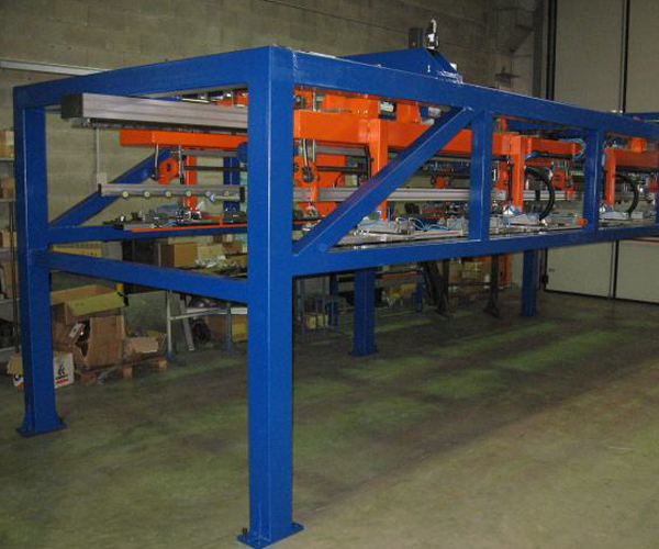 Stacker for sheet metal