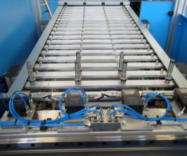 valves to be tested on the conveyor